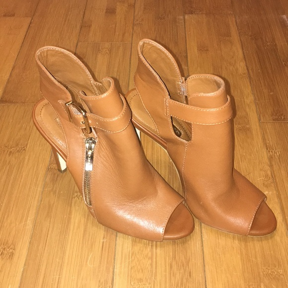 leather open toe boots Shop Clothing